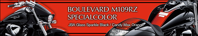 BOULEVARD  M109R SPECIALCOLOR JBA : Glass Sparle Black / Candy Max Orange